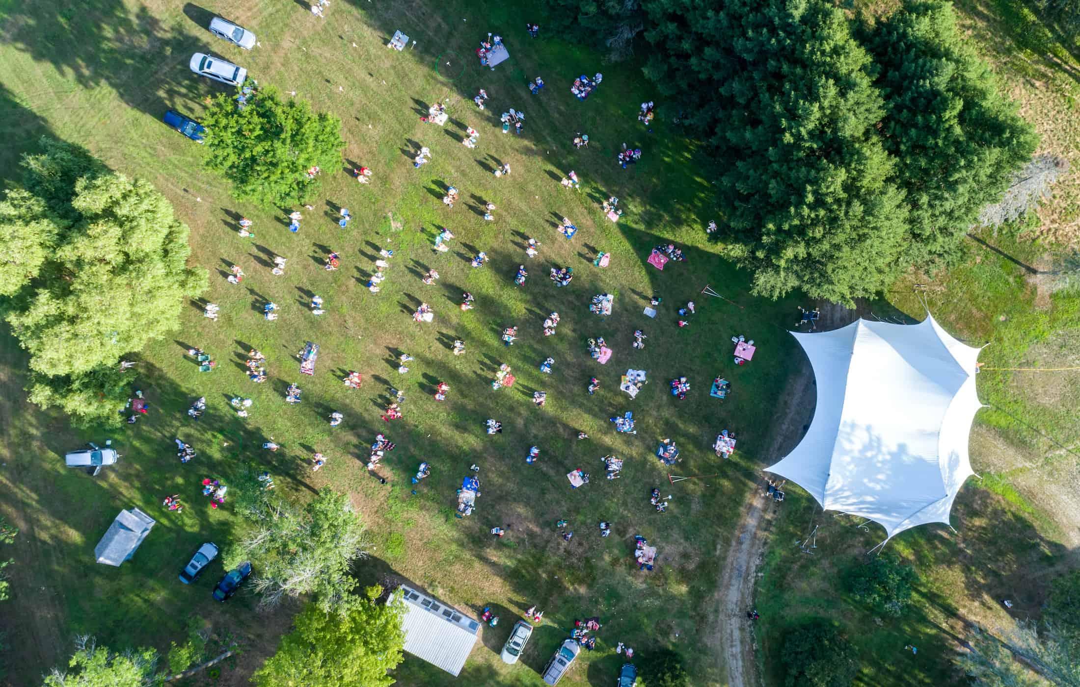 BMDF aerial crowd