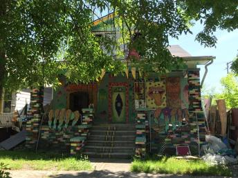 An unusual home in the Hamtramck section of Detroit.