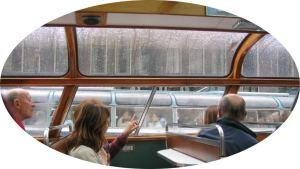 Rainy day boat trip in Amsterdam