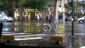 A rainy day at Place de Roubaix