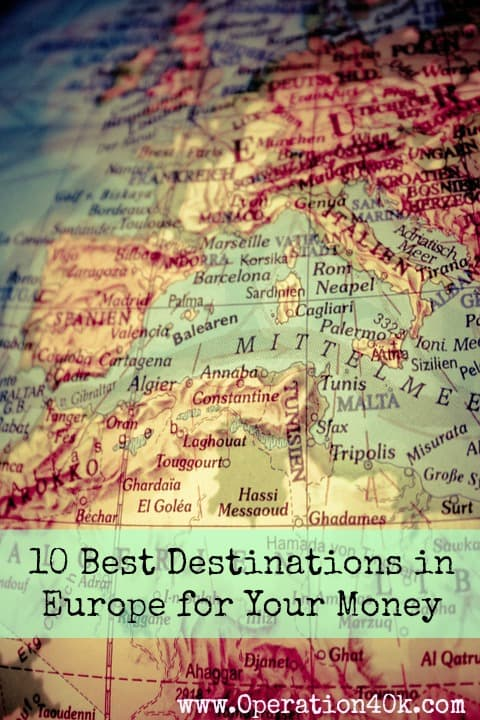 10 Best Destinations in Europe for Your Money