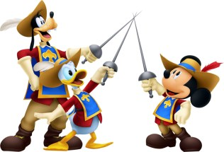 Kingdom Hearts 3D - The Three Musketeers