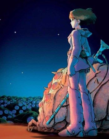 Nausicaä of the Valley of the Wind—Nausicaä and a young ohmu