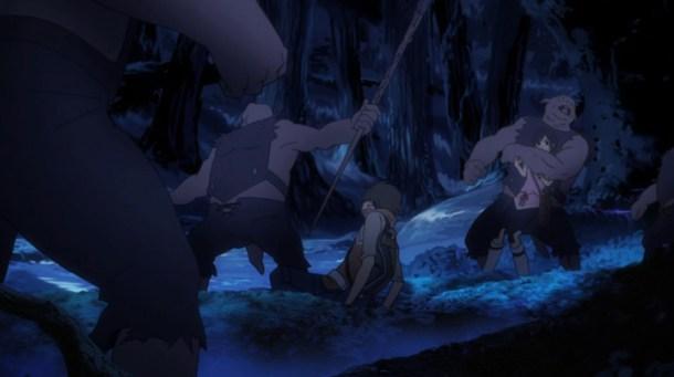 Shin Sekai Yori - Saki and Satoru taken prisoner.