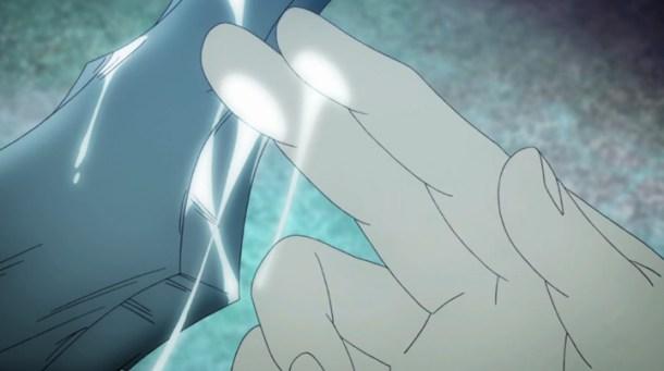 Shin Sekai Yori - Satoru finds a mysterious substance on the spear.