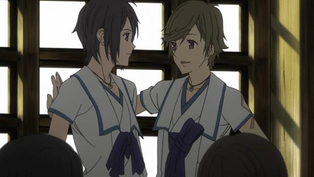 Shin Sekai Yori Shun and Satoru