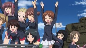 Girls und Panzer Aya, Taeko, Noriko, Akebi, Shinobu, Karina, Yuuki, and Saki
