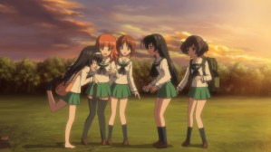 Girls und Panzer Mako, Saori, Miho, Hana, and Yukari
