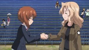 Girls und Panzer Miho and Kei