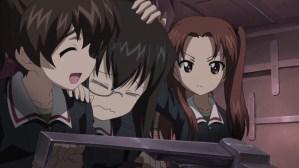 Girls und Panzer Yuzu, Kawashima, and Anzu