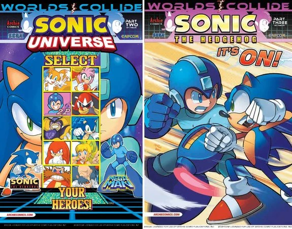 Mega Man, and Sonic Crossover Comic