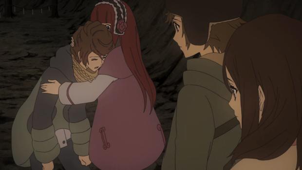 Shin Sekai Yori - Mamoru, Maria, Satoru, and Saki