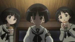 Girls und Panzer Gomoyo, Sodoko, and Pazomi