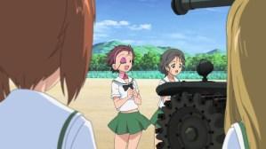 Girls und Panzer Momoga, Piyotan, Miho, and Nekonya