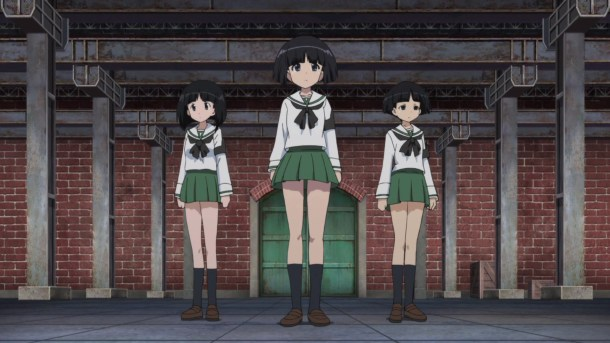 Girls und Panzer Sodoko, Gomoyo, and Unnamed Hall Monitor