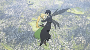 Sword Art Online Kirito and Leafa Hug