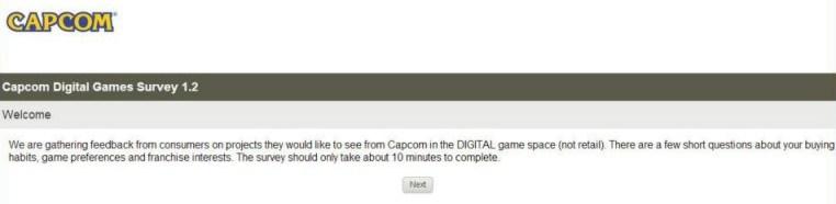capcom survey