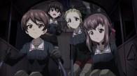 Girls und Panzer Shinobu, Noriko, Akebi, and Taeko