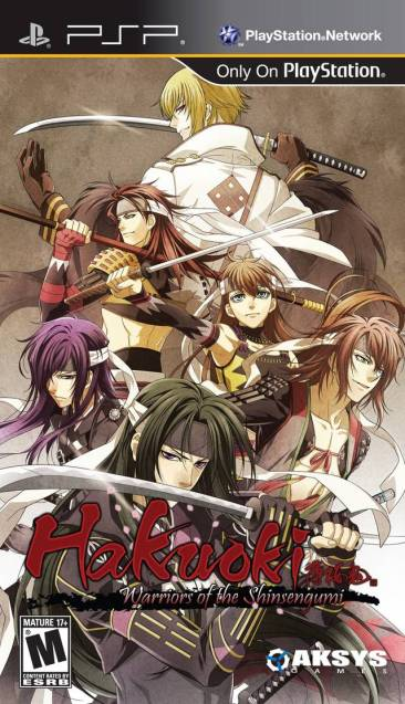 Hakuoki: Warriors of the Shinsengumi Cover