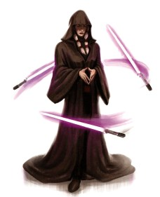 Star Wars: Knights of the Old Republic II—Kreia with lightsabers