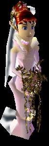 Anju in her wedding dress.