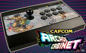 Mad Catz Capcom Arcade Cabinet arcade stick mock-up with game logo