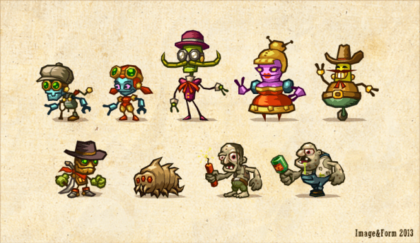 steamworld dig characters