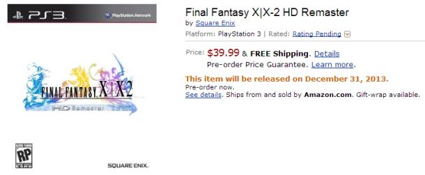 Final Fantasy X HD Amazon