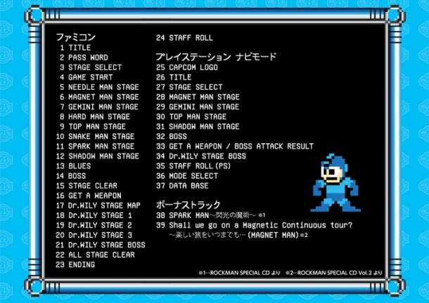 Mega Man 3 Soundtrack List