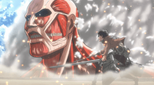 Attack on Titan Eren and Colossal Titan