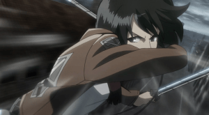 Attack on Titan Mikasa battle