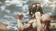 Attack on Titan titan fighting stance