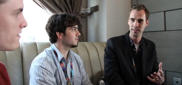 Jonathan Higgins, Richard Ross, and Shawn Jackson of Precursor Games