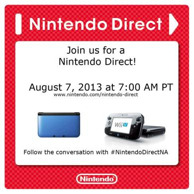 Nintendo Direct: August 7th, 2013
