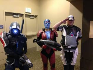 Legion, Samara, and Cerberus officer (Mass Effect series)