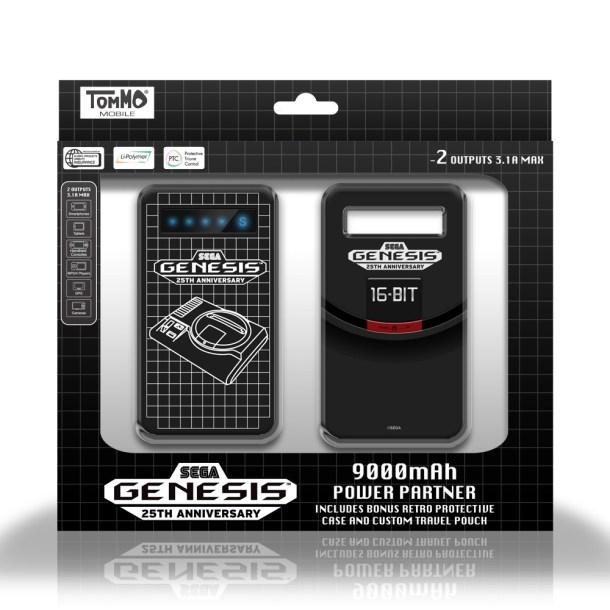 Tommo SEGA Genesis 9,000 mAh Power Partner   Package Shot Front