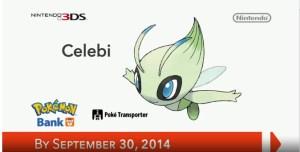 Nintendo Direct: Pokemon Bank - Celebi | oprainfall