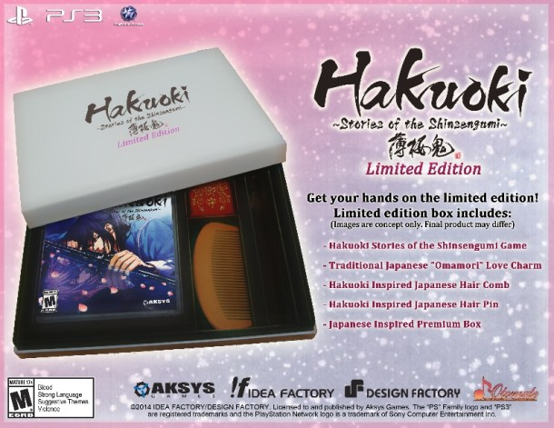 Hakuoki: Stories of the Shinsengumi Limited Edition