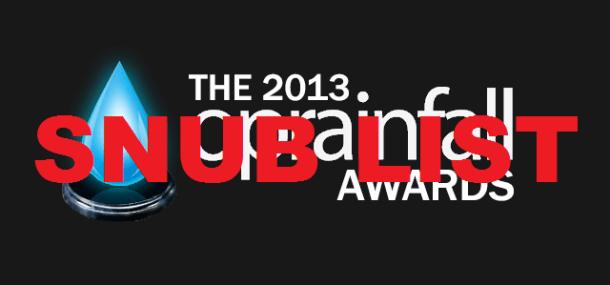 2013 oprainfall Awards: Snub List