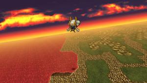 Final Fantasy VI for iPhone (Japanese)   Airship Flight