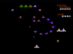Galaga (NES) | Screenshot
