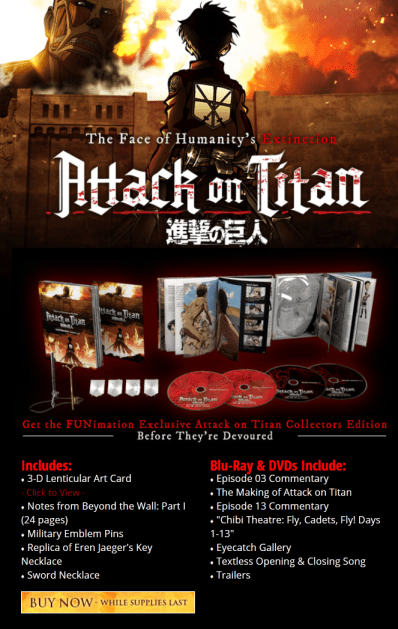 Attack on Titan Part One Premium Edition Blu-ray & DVD