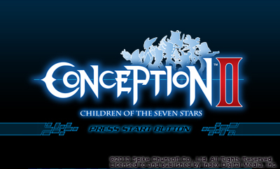Title Screen | Conception II Demo