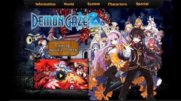Demon Gaze Website