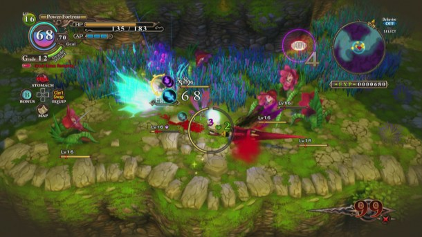 The Witch and the Hundred Knight   Combat