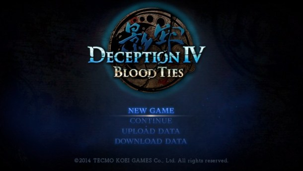 Deception IV | Title Screen