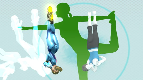 Zero Suit Samus vs. Wii Fit Trainer at Wii Fit Studio - Smashing Saturdays | oprainfall