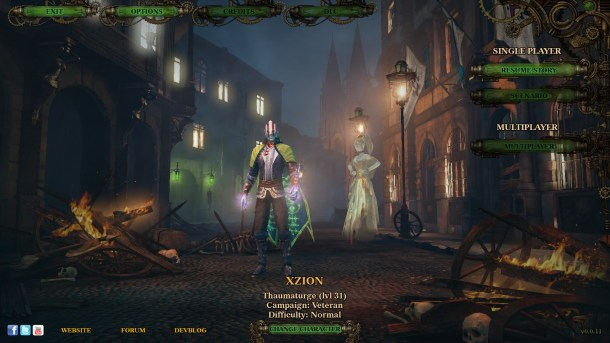 The Incredible Adventures of Van Helsing II | Start Screen