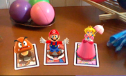 N3DS Photos with Mario - Goomba and Peach