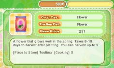 Story of Seasons - Shop menu